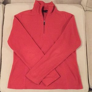 Lands End fleece Qtr zip
